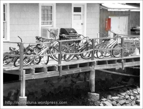 bikes on pier