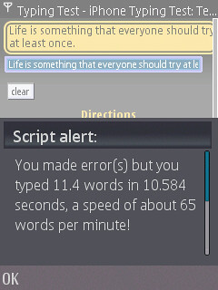 Fast Typing on the N95