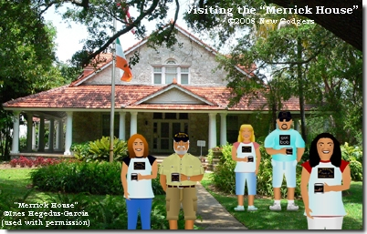 """Visiting the """"Merrick House"""" ©2008 New Codgers"""