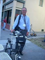 Matt and his folding bike