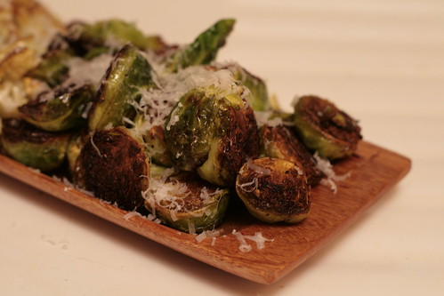 Saffron Infused Pan Seared Brussel Sprouts