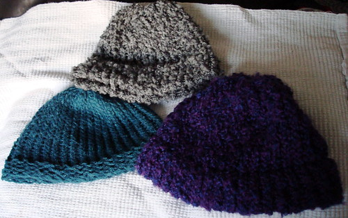 Early loom knit hats