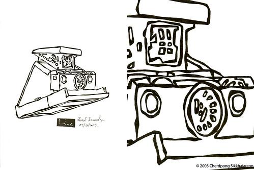 LINEart Polaroid SX70 artwork series no.1