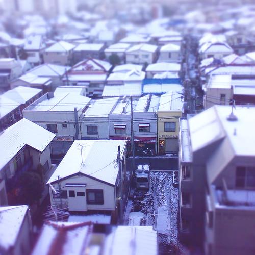 ミニチュア冬景色