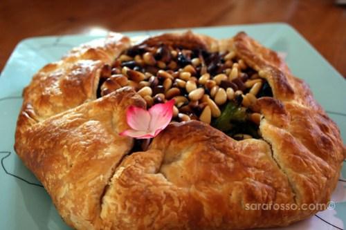 Broccoli, Onion and Pine Nut No-Egg Quiche Recipe