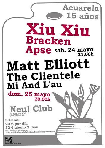 Fiestas 15 Aniversario de Acuarela en Madrid y Barcelona en mayo