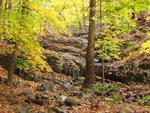 dry waterfall
