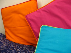 Color on cushions