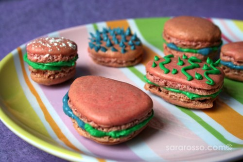 A plate of Easter egg Macarons