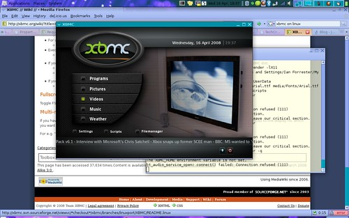 xbox media centre on ubuntu 7.10