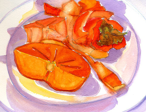 What is a Persimmon #3 (watercolor)