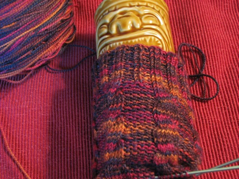 Archaic Cabled Sock