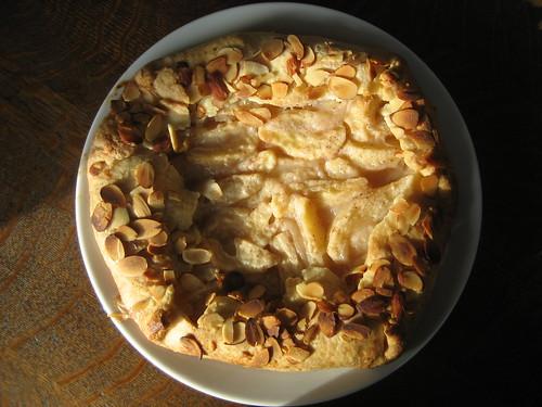 pear-almond rustic tart