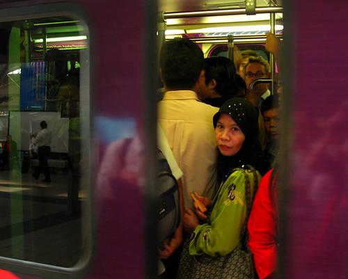 Crowded train - doors closing