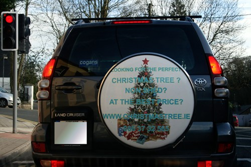 Christmas tree ad
