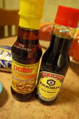 sesame oil and light soy