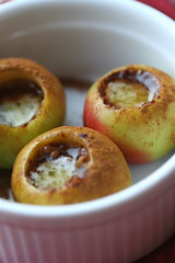 Baked, mapled lady apples