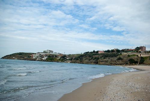 Riva shore and Riva Village, Blacksea region Of Istanbul, Pentax K10D