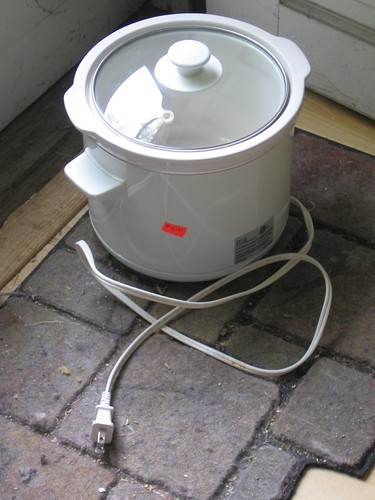 crockpot by the back door