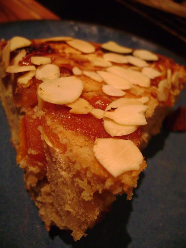 Almond and Apricot Upside Down Cake