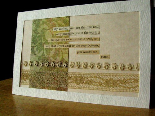 Decoupage marriage felicitation card