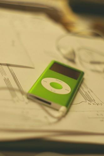 green ipod yay