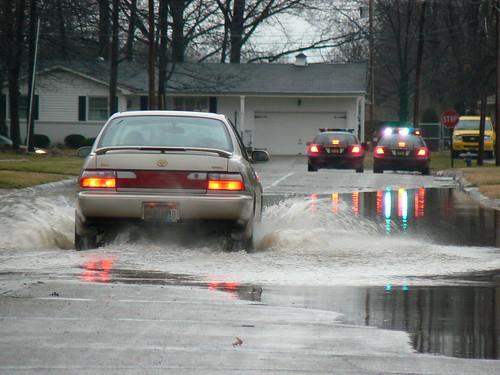 Car Splashing through on 41st