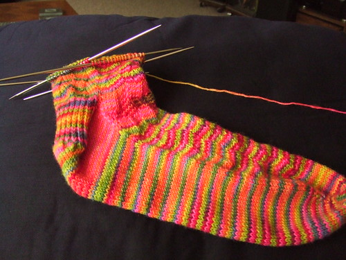 Rainbow waves sock 1, side 2