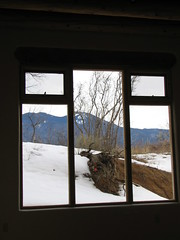 Heart & Soul - Inside Out, Mabel Dodge House, through the zendo window, Taos, New Mexico, February 2007, photo © 2007 by QuoinMonkey. All rights reserved