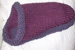 felted clogs - purple