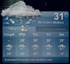 forecast: snow.