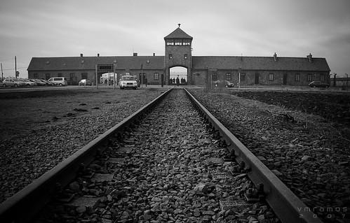 Auschwitz II entrance