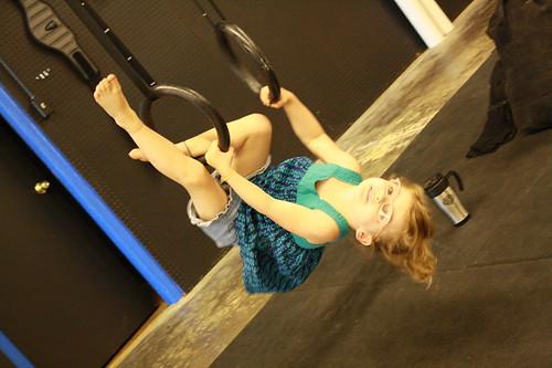Skyler on the gymnast rings