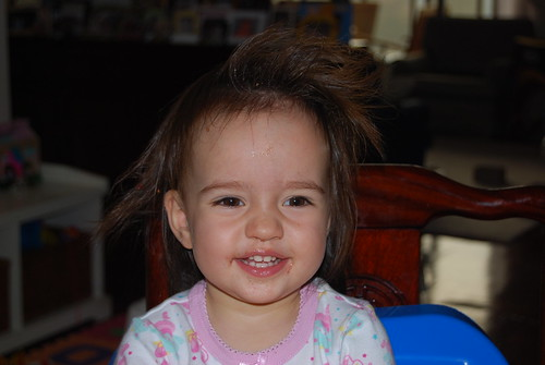 "Riley's ""There's Something About Mary"" Hairdo"