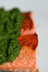 salmon with thai basil salsa verde