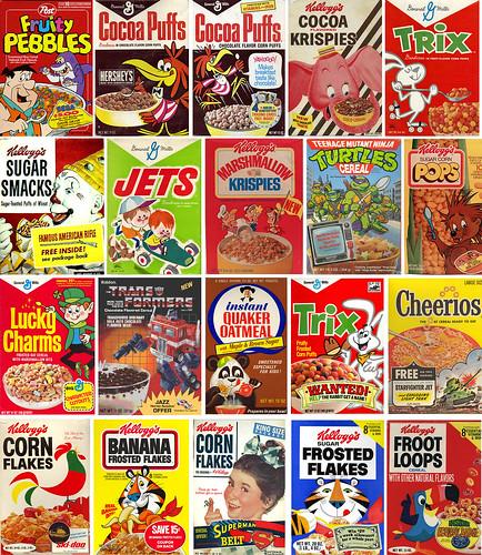 Cereal Boxes potpourri