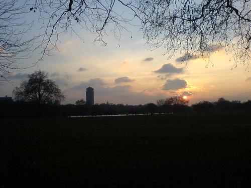 hyde park at dawn