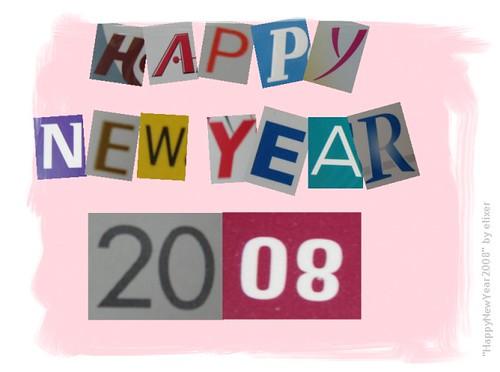 HappyNewYear2008 greeting card