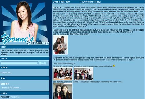 Yvonne's Quit Journey Blog