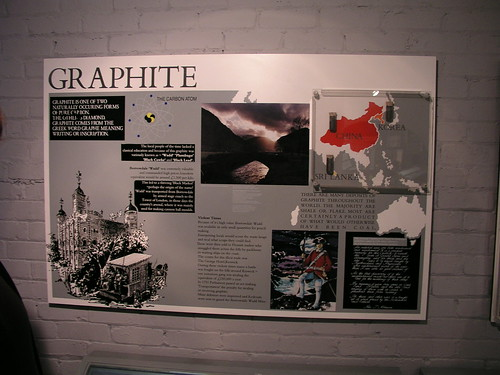 Info about graphite at the Cumberland Pencil Factory (where they make Derwent pencils)