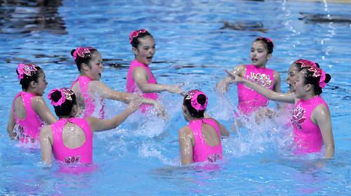 08花泳賽-16~18集體自選澳門隊奪冠