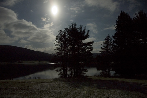 Red House Lake by moonlight