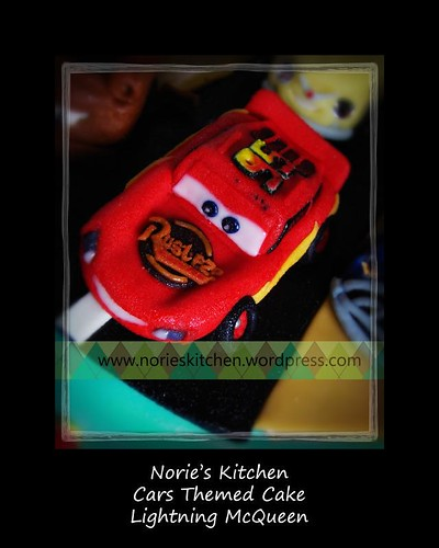 Norie's Kitchen - Cars Themed Cake Lightning McQueen