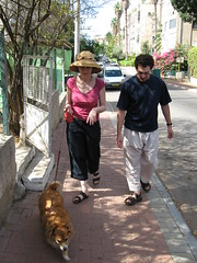 Hannah, Eric and Simcha the dog