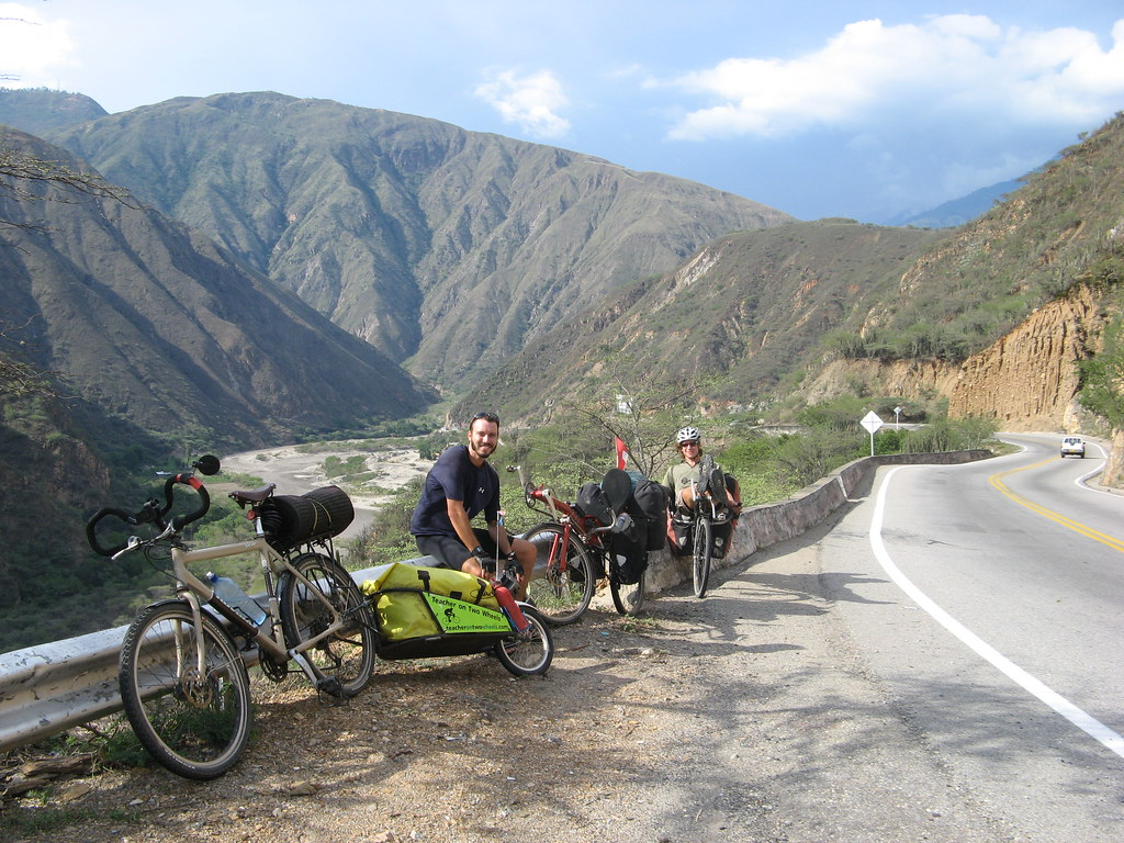 getting ready to start the climb from the bottom of Chicamocha Canyon