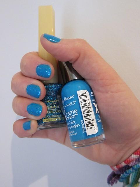 Blue & Blue Glitter