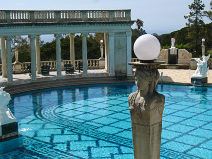 outdoor pool at hearst castle, san simeon, north of cambria