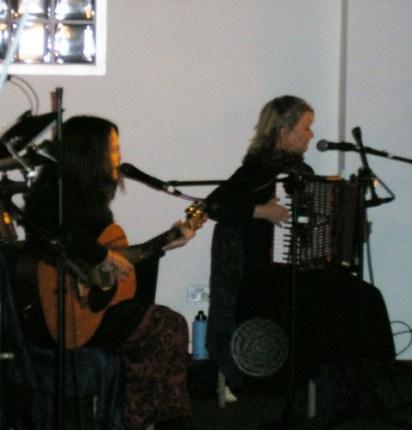 Amanda Gilmour with Rose Broe at foco nuevo