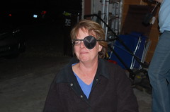 My mom, PRETENDING to be a pirate