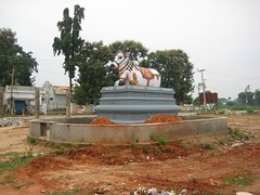 Big Nandhi in front of the temple